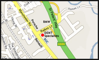 Map to Dent Specialists Bolton