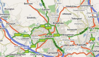 Dent Specialist Bolton Map