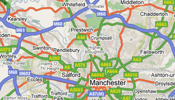 Dent Specialist Manchester Map